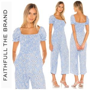 Faithfull the Brand Della Jumpsuit In Baby Blue